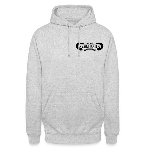 Eine Liebe Zwei Takte Hoodie schwarzes kleines Logo - Unisex Hoodie