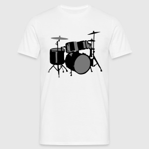 Drums T-shirts - Herre-T-shirt
