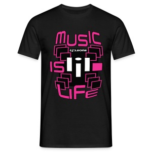 MUSIC IS LIFE BLACK - 3 - T-shirt Homme