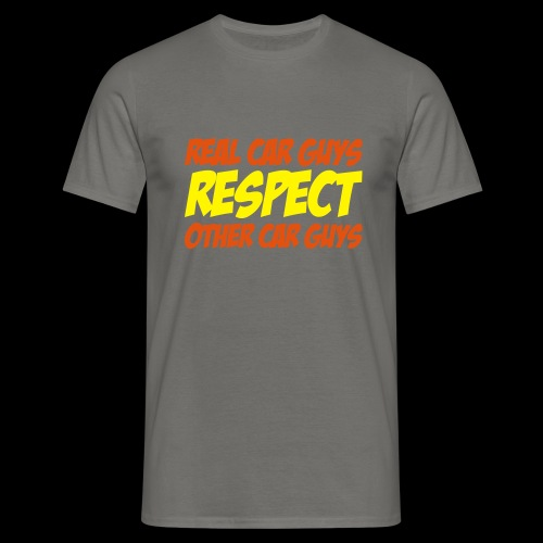 real car guys RESPECT - orange/gelber Druck - Männer T-Shirt