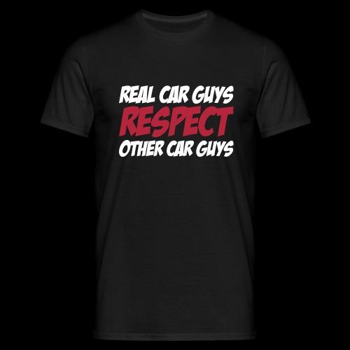 real car guys RESPECT -weiß/roter Druck - Männer T-Shirt
