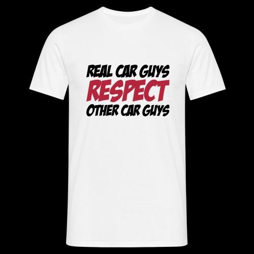 real car guys RESPECT - schwarz/roter Druck - Männer T-Shirt