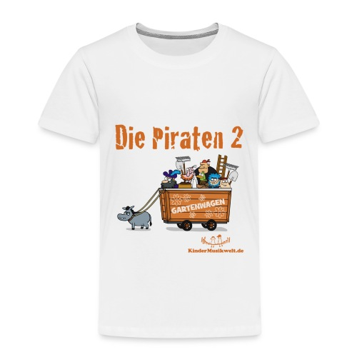 Kinder T-Shirt Piraten 2 Wagen - Kinder Premium T-Shirt