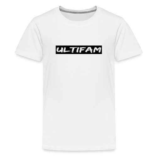 Ultimategamers Kids Family White T-shirt - Teenage Premium T-Shirt