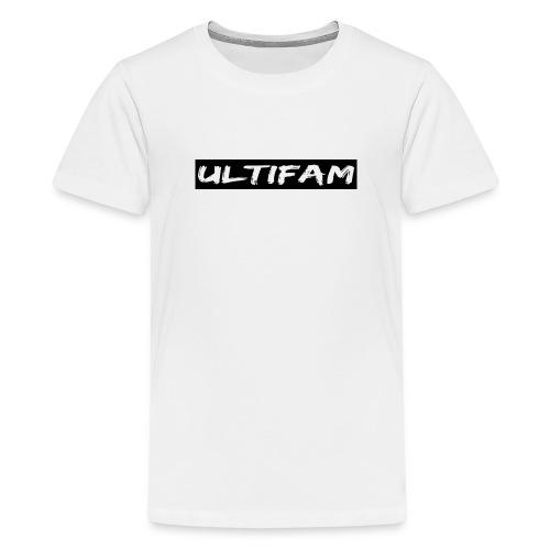 Ultimategamers Kids Family White T-shirt - Teenage Premium T-Shirt