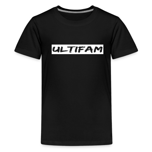 Ultimategamers Kids Family Black T-shirt - Teenage Premium T-Shirt