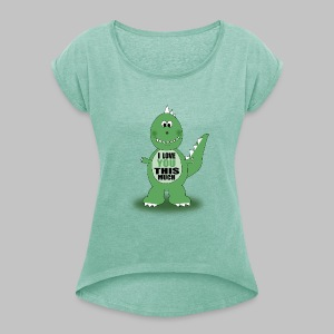 T-shirt femme Dino Love - Women's T-shirt with rolled up sleeves