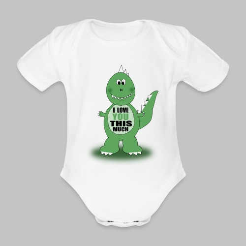 Body bébé Dino Love - Organic Short-sleeved Baby Bodysuit