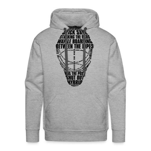Hockey Goalie Mask Typography Men's Hoodie - Men's Premium Hoodie