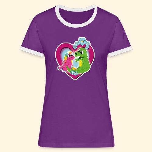 beste Freunde - Frauen Kontrast-T-Shirt
