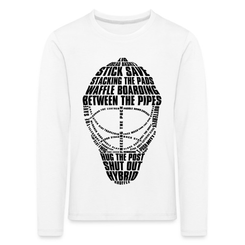 Hockey Goalie Mask Typography Children's Long Sleeve T-Shirt - Kids' Premium Longsleeve Shirt
