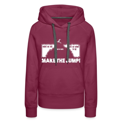 Frauen Basic Hoodie Make The Jump (dunkel) - Frauen Premium Hoodie