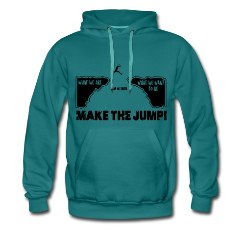 Männer Basic Hoodie Make The Jump (hell) - Männer Premium Hoodie