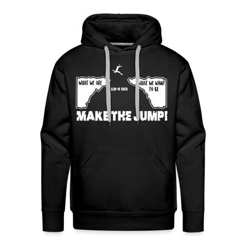 Männer Basic Hoodie Make The Jump (dunkel) - Männer Premium Hoodie