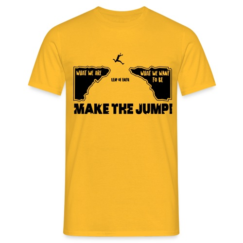 Männer Basic T-Shirt Make The Jump (hell) - Männer T-Shirt