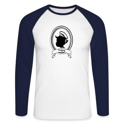 Fördejung Baseballshirt mit ovalem Wappen - Männer Baseballshirt langarm