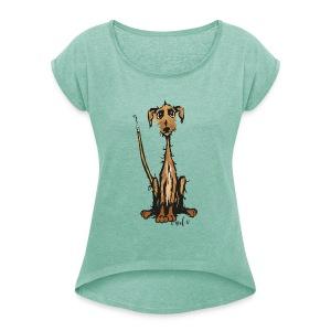 brindle sweetie! - Frauen T-Shirt mit gerollten Ärmeln