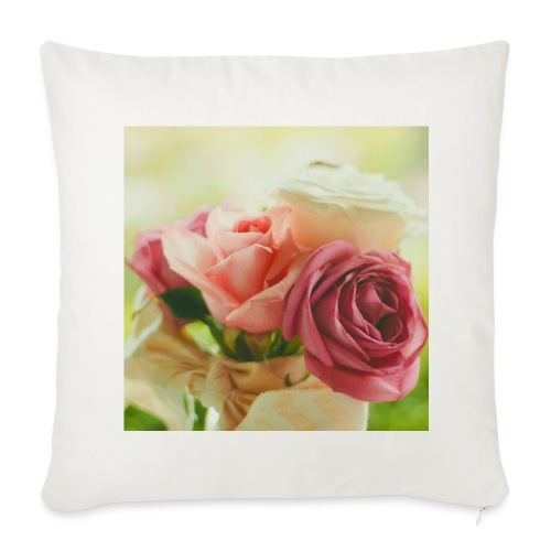 pink roses fl sq.jpg - Sofa pillow cover 44 x 44 cm