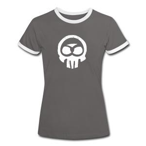 Schwabe im Kopf/weiß - Mädle - Frauen Kontrast-T-Shirt