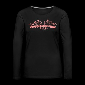 Zuggerschnegge - Print/rosa - Mädle - Frauen Premium Langarmshirt