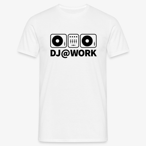 DJ@Work White - Männer T-Shirt