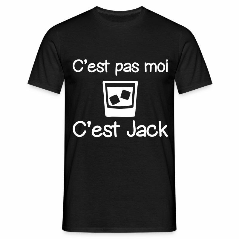 C'est pas moi c'est jack, humour,citation,alcool - T-shirt Homme