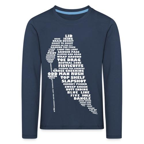 Hockey Player Typography Children's T-Shirt - Kids' Premium Longsleeve Shirt