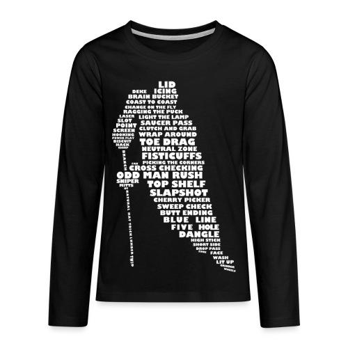 Hockey Player Typography Teenager's T-Shirt - Teenagers' Premium Longsleeve Shirt