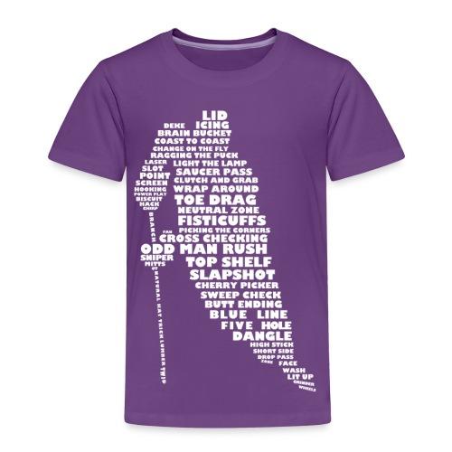 Hockey Player Typography Children's T-Shirt - Kids' Premium T-Shirt