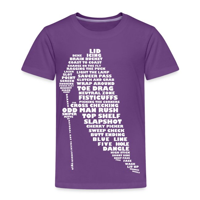 Hockey Player Typography Children's T-Shirt