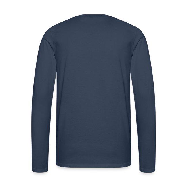 Hockey Player Typography Men's Long Sleeve T-Shirt