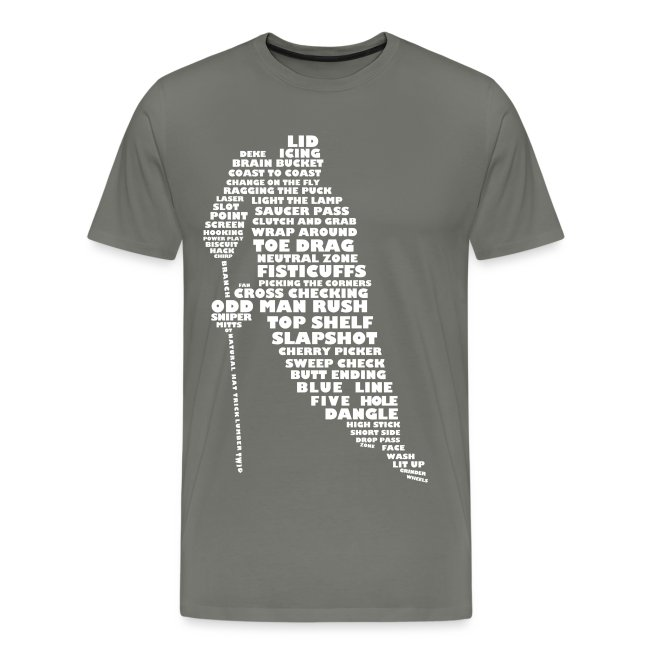 Hockey Player Typography Men's Premium T-Shirt