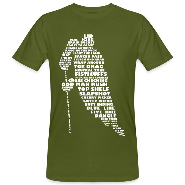 Hockey Player Typography Men's Organic T-Shirt