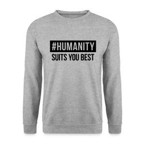 Unisex Sweater #humanity - Männer Pullover