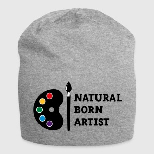 Natural Born Artist (PNG) Caps & Hats - Jersey Beanie