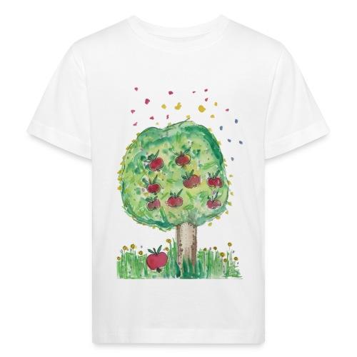 Kinder-bio-T-Shirt *Apfelbaum* weiß - Kinder Bio-T-Shirt