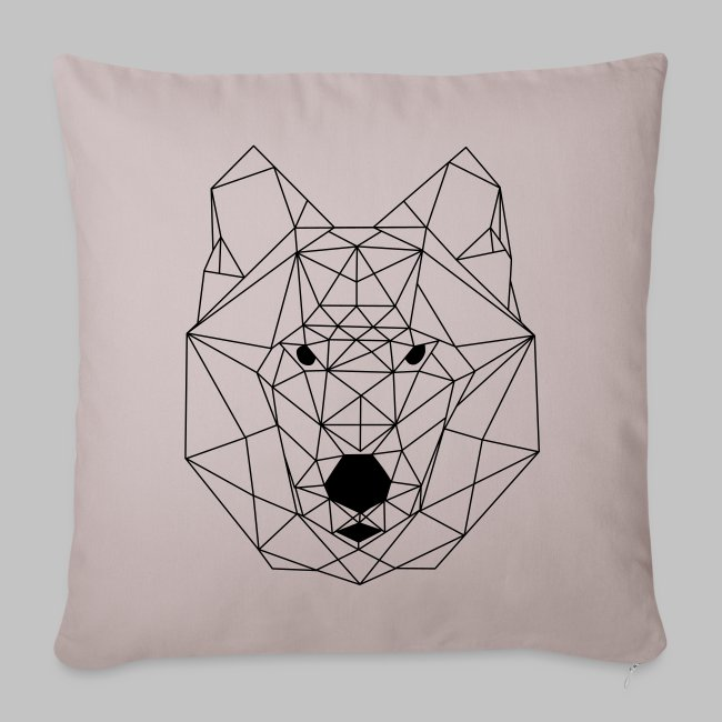 Housse coussin Loup