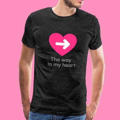 The way to my heart - Männer Premium T-Shirt