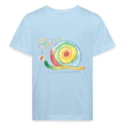 Kinder-bio-T-Shirt *Schnecke* hellblau - Kinder Bio-T-Shirt