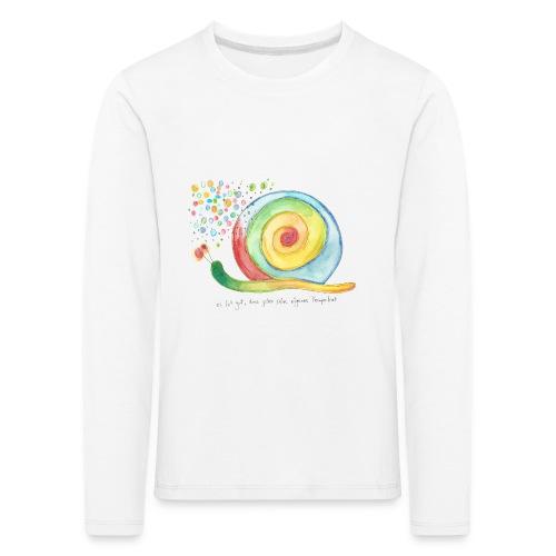 Kinder-Langarm-Shirt *Schnecke* weiß - Kinder Premium Langarmshirt