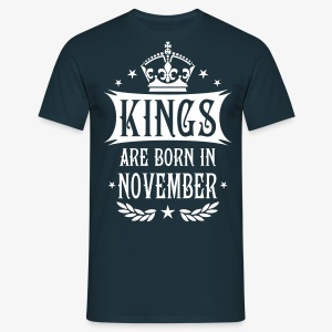 Kings are born in November Sterne Krone King Männer T-Shirt - Männer T-Shirt
