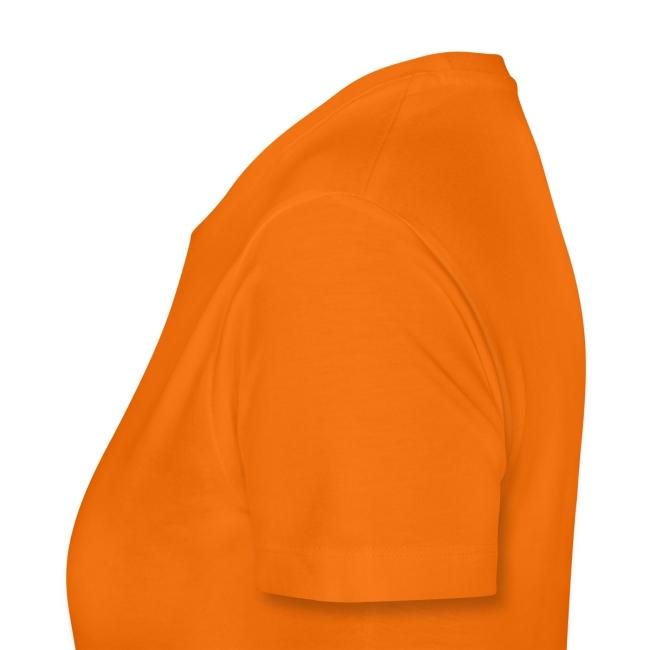 Oranje vrouwenshirt Oranje is my middle name