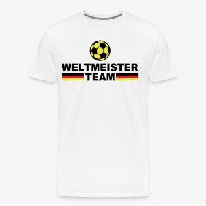 Weltmeister Team Germany Sieger Fußball Deutschland Herren T-Shirt - Männer Premium T-Shirt