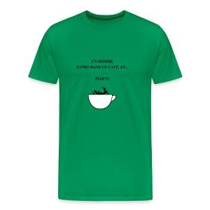 homme café plouf - T-shirt Premium Homme