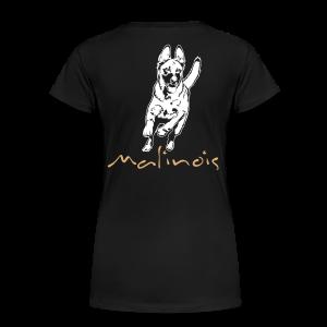 Malinois mit Schriftzug - Frauen Premium T-Shirt