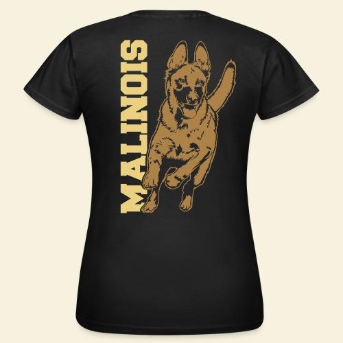 Malinois mit Schriftzug - Frauen T-Shirt