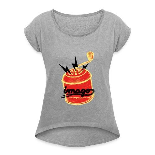 T-Shirt Vintage Femme Imago records & production - T-shirt à manches retroussées Femme