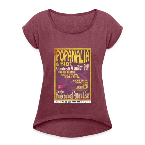 T-Shirt Femme Vintage Popanalia 40 ans après ! - T-shirt à manches retroussées Femme