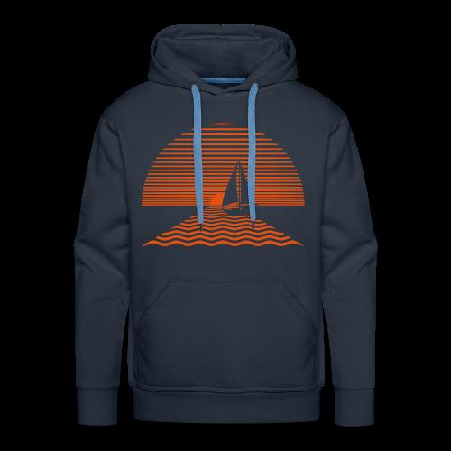 Zeilen naar de zon trui - Mannen Premium hoodie