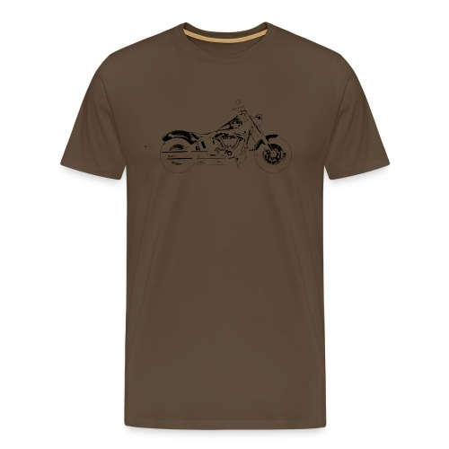 Bobber Old School  - Männer Premium T-Shirt